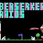 The title screen for the C64 version of Berserker Raids