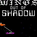 The title screen for Wings of Shadow for the Apple II