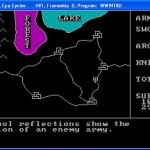 In-game screenshot of Wizard War on the IBM PC