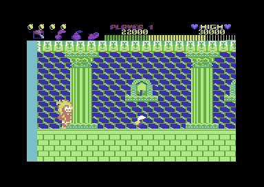 Now in the final version - you defeat the boss and the character runs off screen. Not here. You must collect the object first!