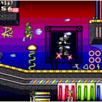 Screen from David Wightman, showing a more complete Neon Nights level.
