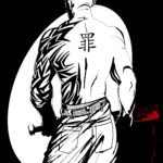 Sin City Concept Character Tong Enforcer Spotlight Red Blood