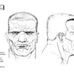 Sin City Model Sheet Marv Face