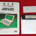School Tech Word Search Ala Software 1983 disk boxcontent